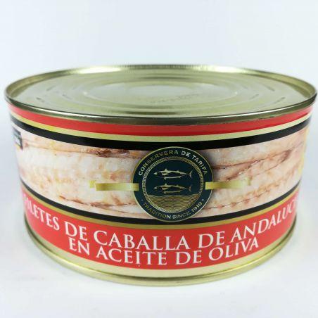Makrelenfilet Caballa traditionell hergestellte Fischdose in Olivenöl 975g