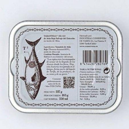 Bauchfleisch Tarantelo vom Roten Thunfisch in Olivenöl edel Thunfisch in der Dose und bester der Welt TarifaFisch