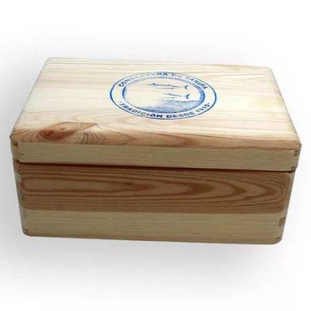 Fischkonserven Box TarifaFisch Holzkiste