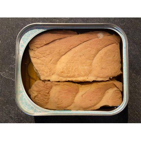 Bauchfleisch roter Thunfisch Ventresca geöffnet Fischdelikatesse