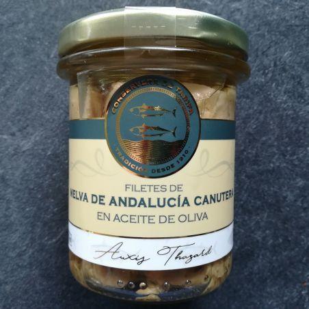 Fregattmakrelenfilet im Glas Melva Canutera traditionell hergestellt in Olivenöl 190g